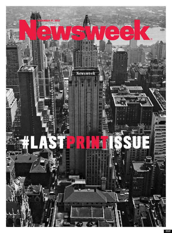 newsweek u0026 39 s last print issue cover released  photo