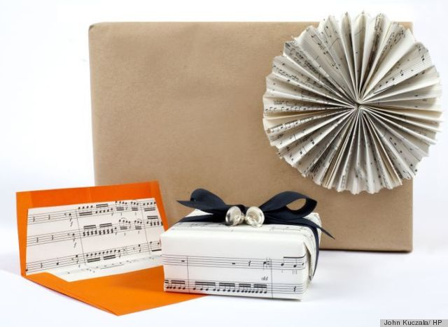 A Gift Wrapping Idea Using Sheet Music Thats As Simple As Do Re Mi