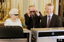 The Queen's 3D Glasses Are Swarovski Embellished (Of Course They Are)