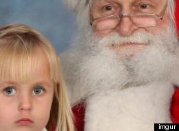 Best Santa Picture? Little Girl Shows Middle Finger To Camera (PHOTO)