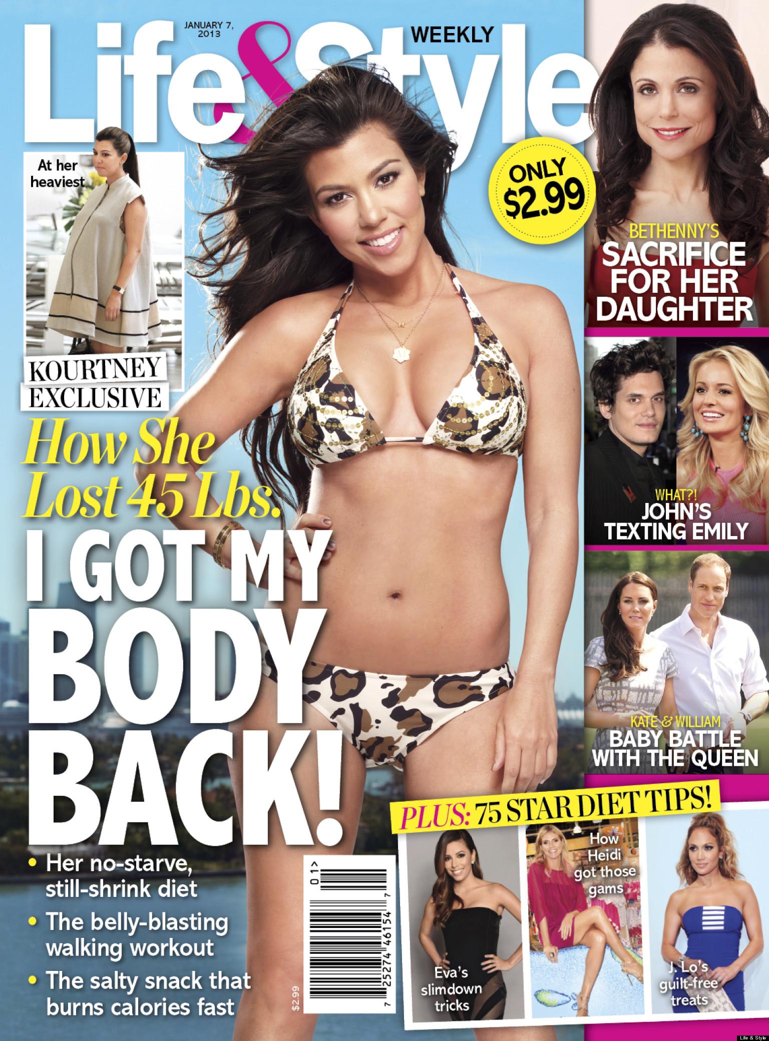 Kourtney Kardashian's Weight Loss: Reality Star Shed 45 ...
