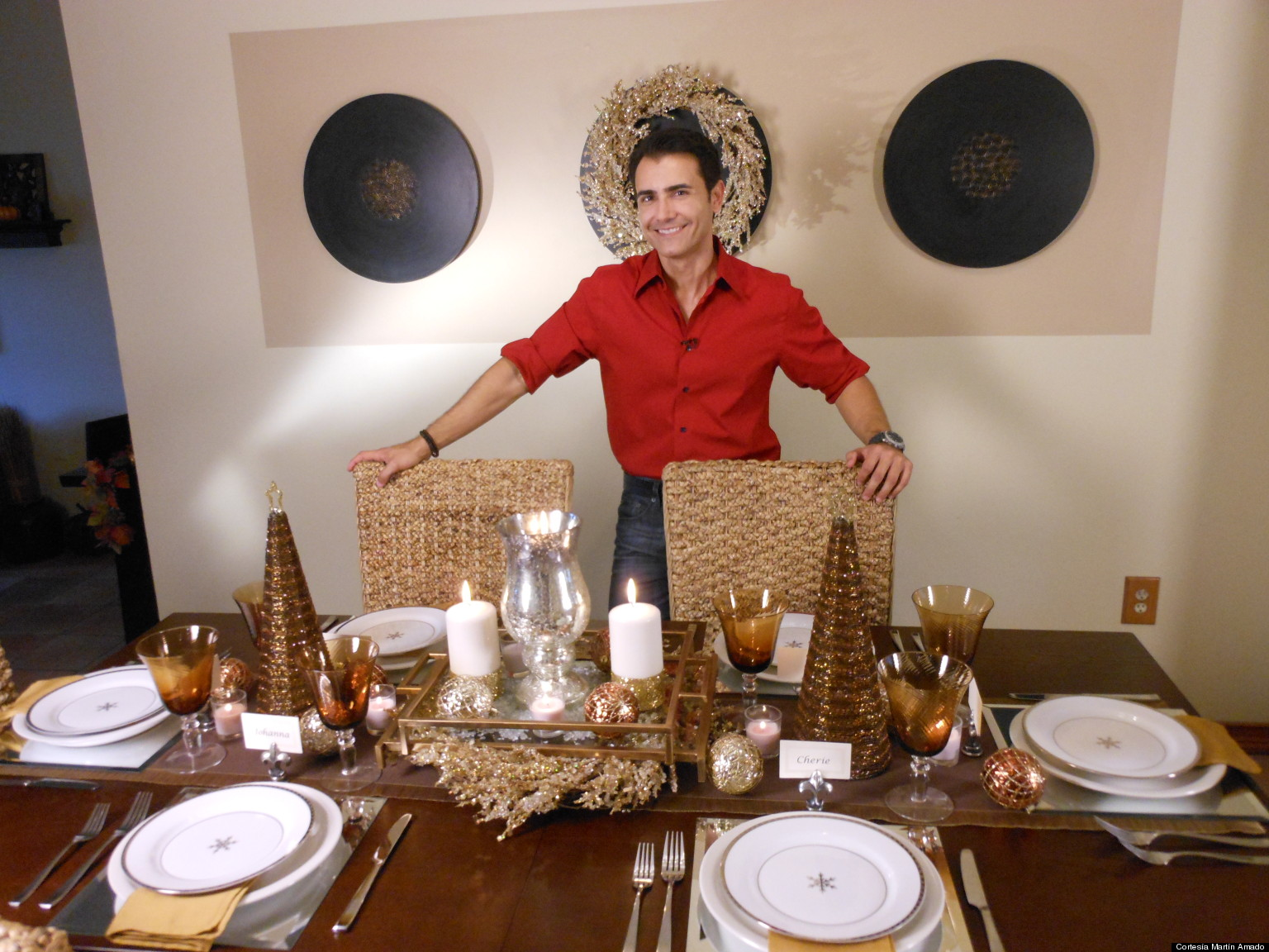C mo decorar tu mesa para la cena de fin de a o fotos - Adornar mesa de navidad ...