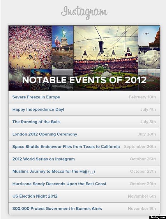 eventos notables del año instagram