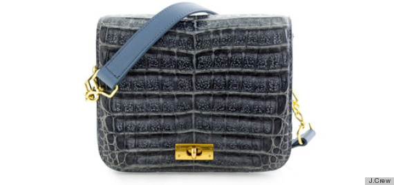 j crew alligator purse