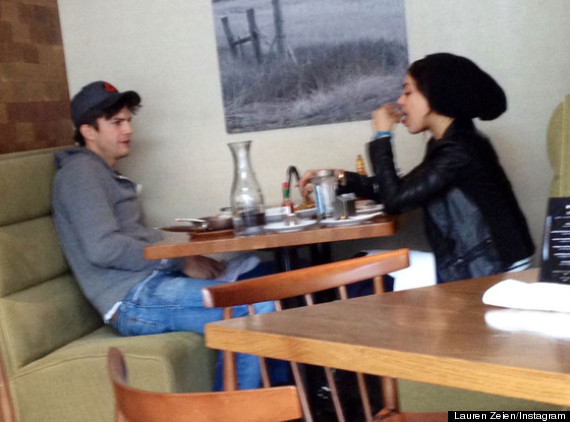 mila kunis ashton kutcher brunch
