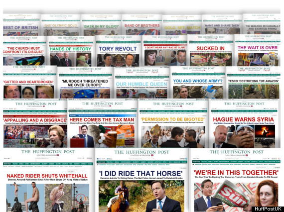 huffpostuk splashes 2012