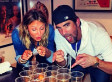 Stacy Keibler, Michael Phelps Ring In The New Year Early With A Game Of Beer Pong (PHOTO)