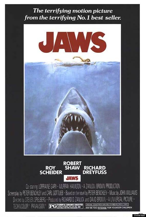 jaws shark poster