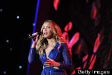 Masterpiece Or Disasterpiece: Leona Lewis' Glitzy Blue New Year's Eve Dress