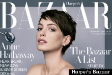 Anne Hathaway Wows For Harper's Bazaar February Issue