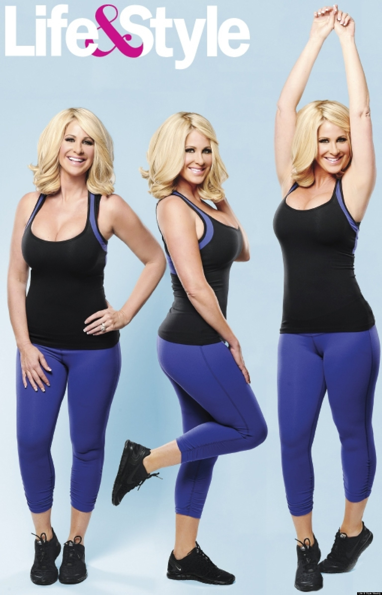 Kim Zolciak S Weight Loss Real Housewives Star Shows Off Post Baby Body Photos Huffpost