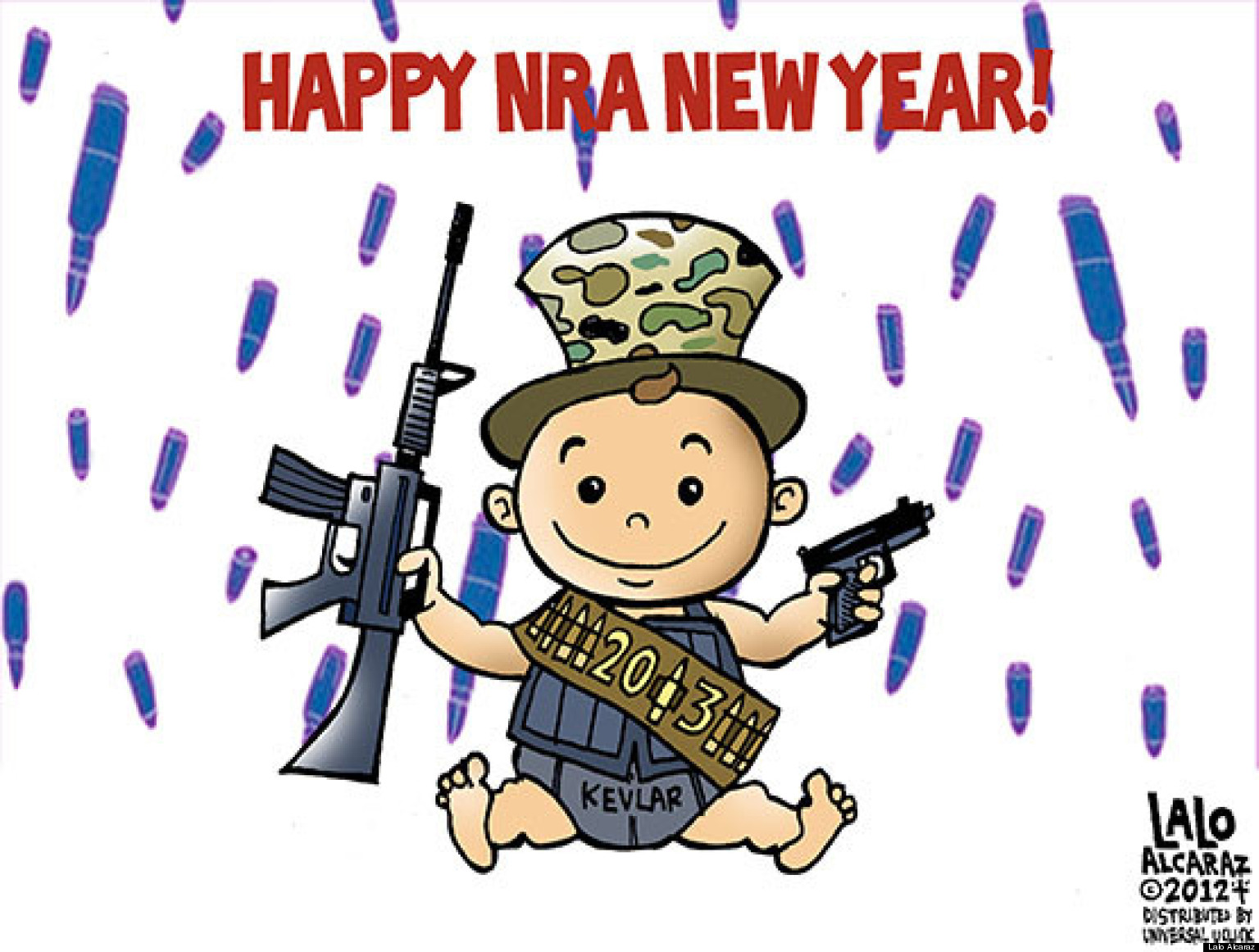 Happy nra new year cartoon the huffington post