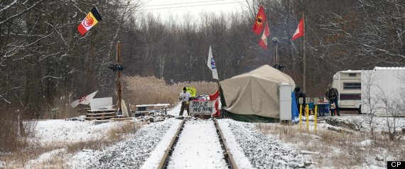 SARNIA IDLE NO MORE BLOCKADE