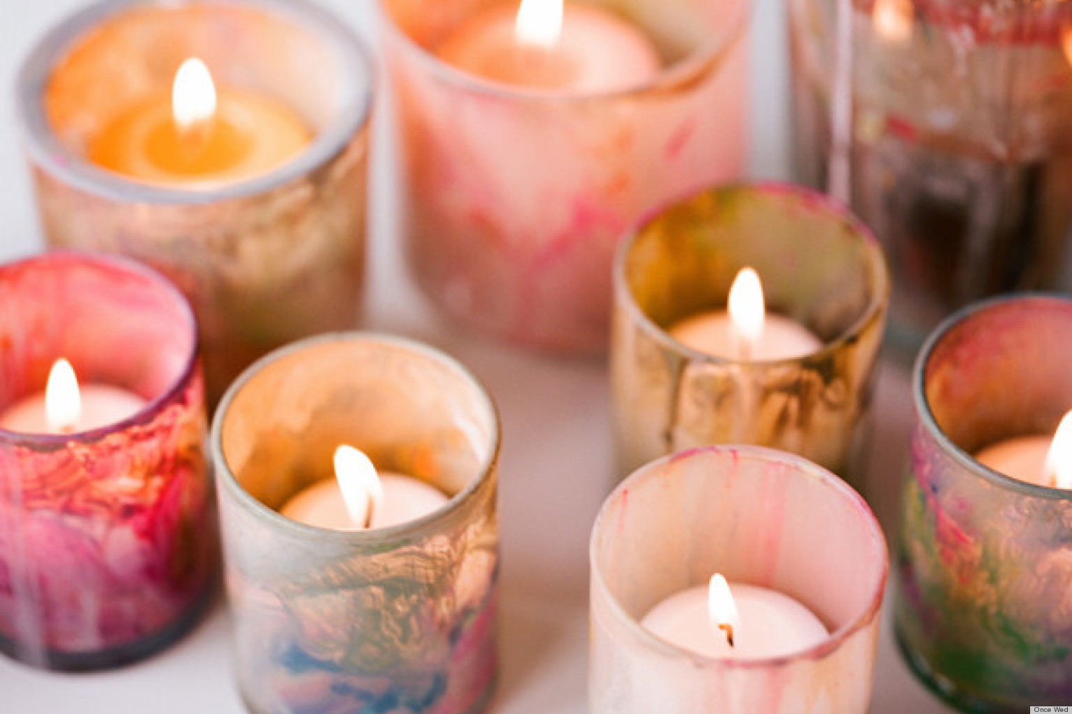 diy painted votive candle holders that will add a unique touch to your home huffpost. Black Bedroom Furniture Sets. Home Design Ideas