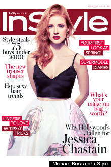 jessica chastain instyle