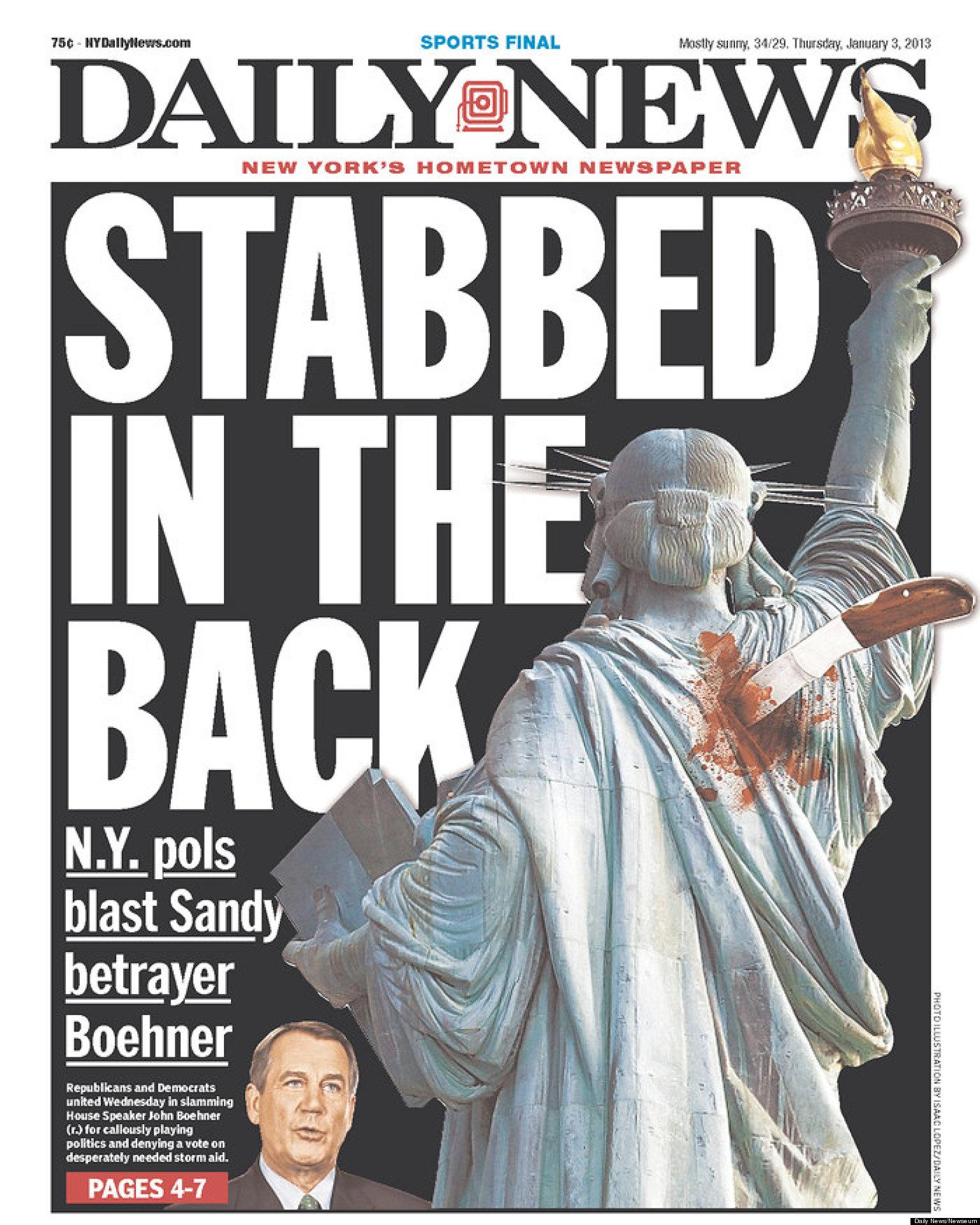 New York Daily News' John Boehner Cover Blasts House ...