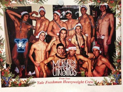 yale mens christmas card