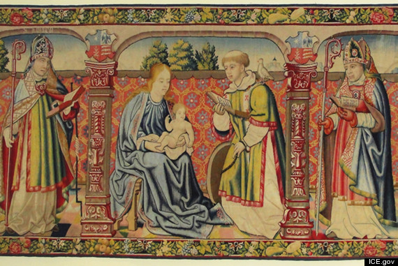 Legendary Stolen Tapestry Virgin And Saint Vincent