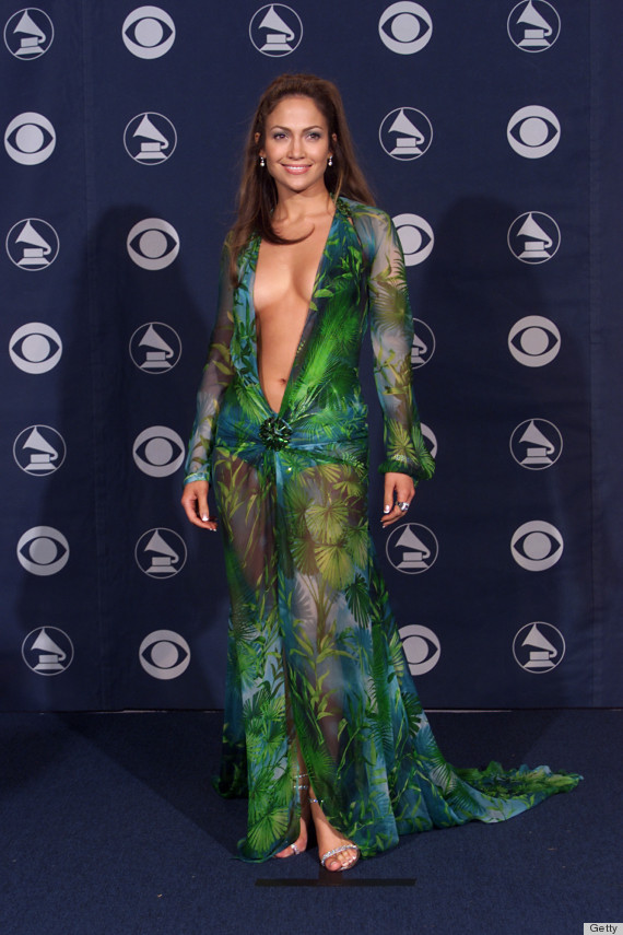 Jennifer Lopez's Versace Dress From The Grammys Is Still Sitting In