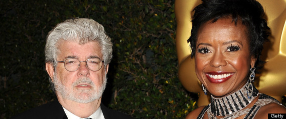 GEORGE LUCAS MELLODY HOBSON ENGAGED