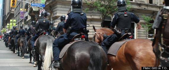 TORONTO POLICE HORSES