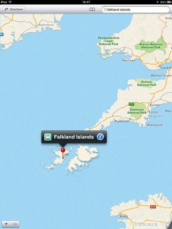 falklands spoof