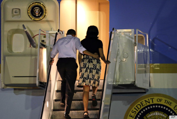 Michelle Obama Returns From Hawaii Holiday In Same Target Dress She