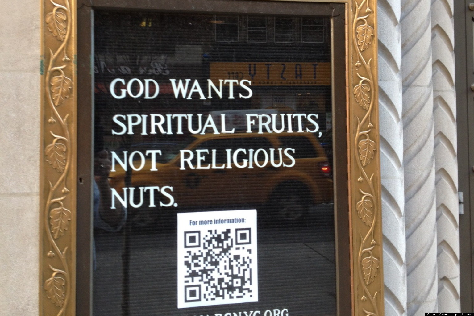 Church Sign: 'God Wants Spiritual Fruits, Not Religious ...