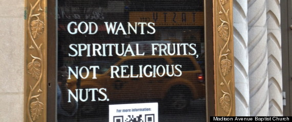 RELIGIOUS NUTS CHURCH SIGN