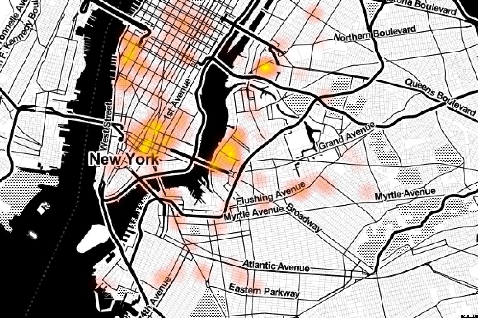 Interactive Graffiti Maps Offer Clues To New Yorks Street Art Hot - Nyc radar map