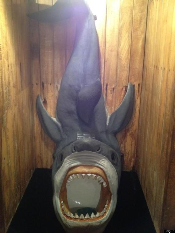 shark urinal