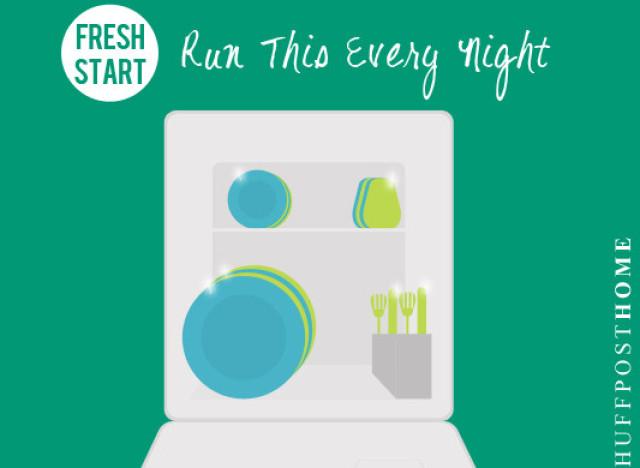 run dishwasher every day