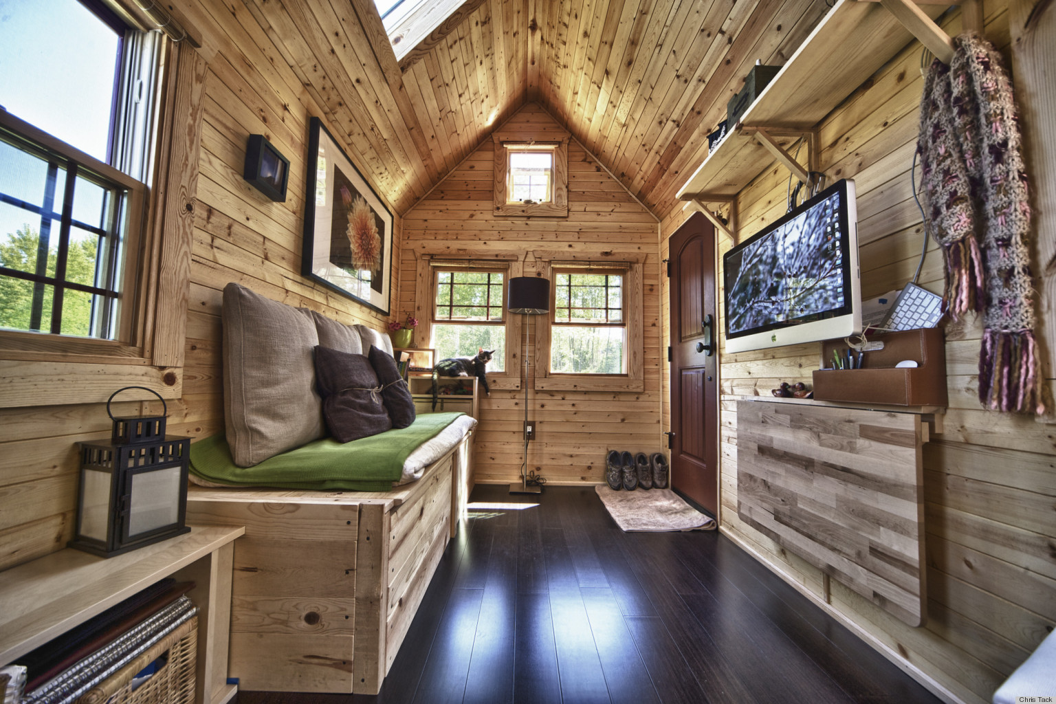 chris and malissa tack 39 s tiny home transformed this high tech couple into simple living converts. Black Bedroom Furniture Sets. Home Design Ideas