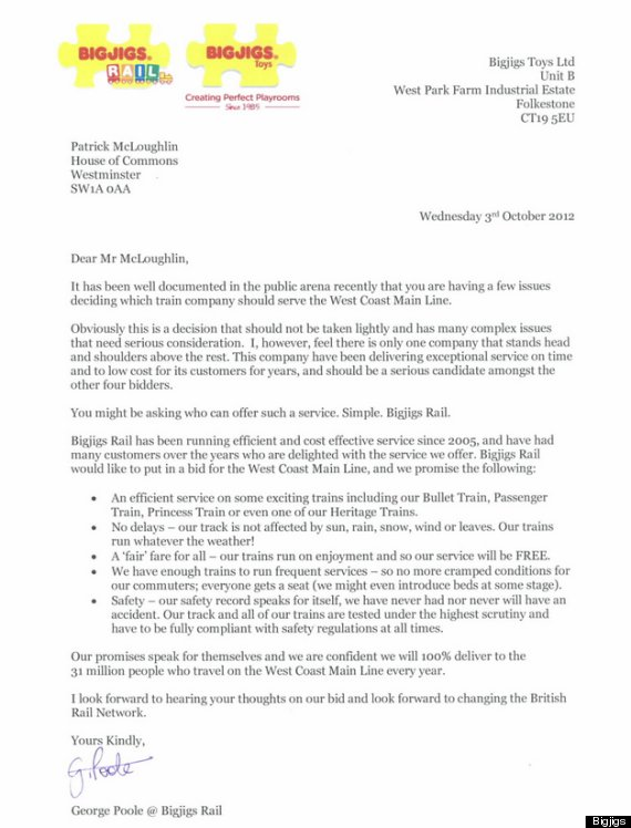 the letter to patrick mcloughlin
