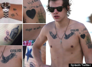 Mapping The 1D Star's Body Art