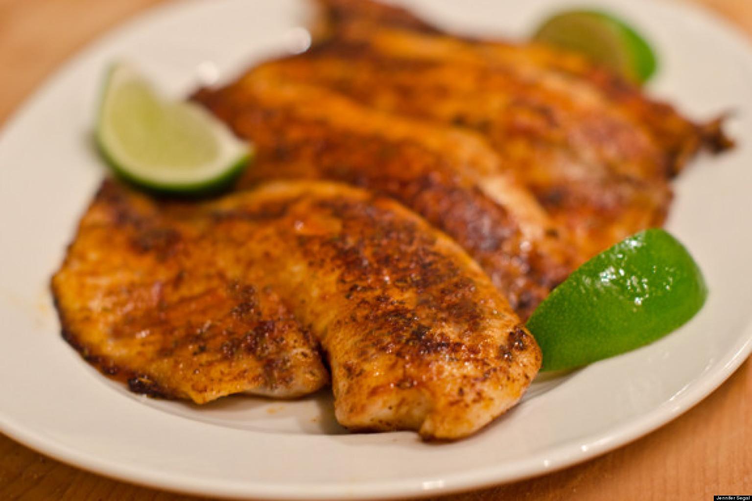 Easy Weeknight Dinner Blackened Tilapia Fillets Huffpost
