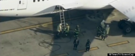 747 DREAMLINER FIRE