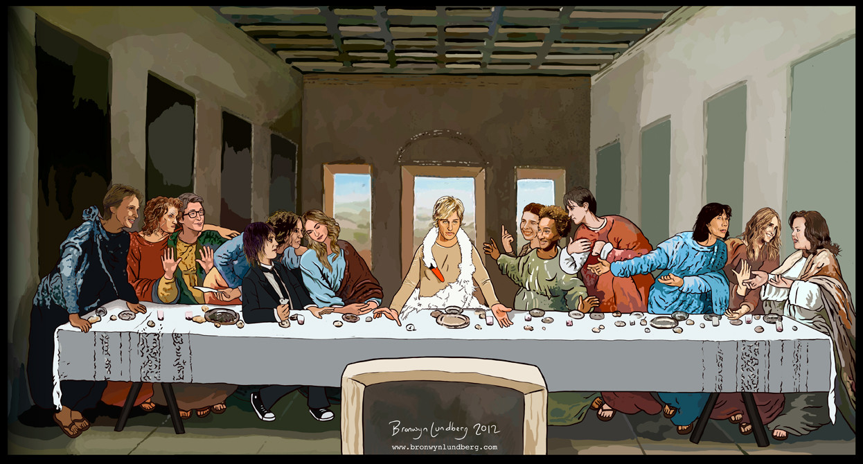 Bronwyn Lundberg's Lesbian 'The Last Supper' Painting Features Ellen ...
