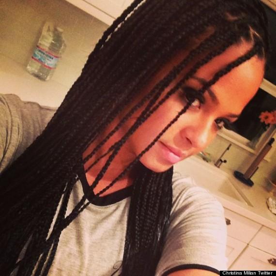 christina milian braids