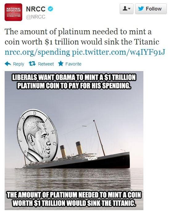 platinum coin titanic