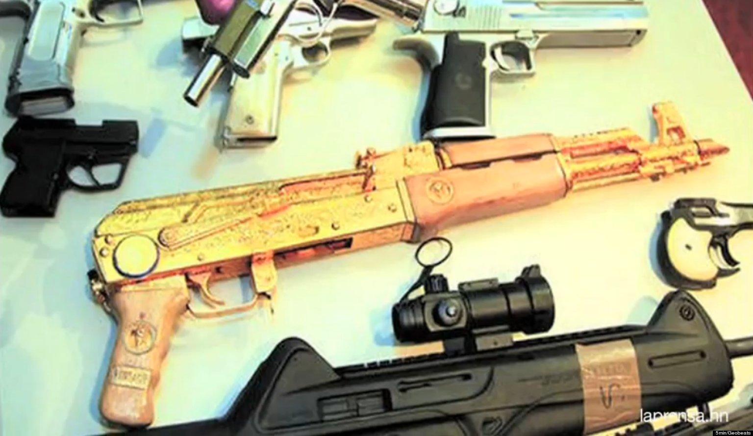 golden machine gun