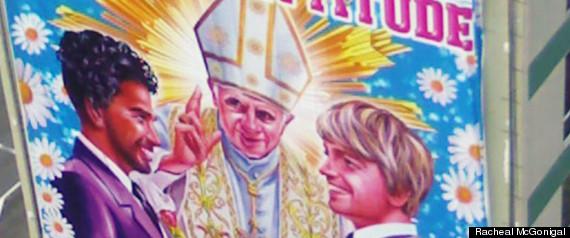 POPE GAY MARRIAGE AD BILLBOARD