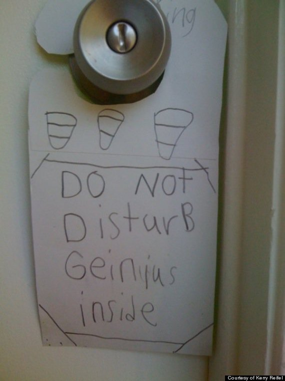 cute kid note of the day genius inside