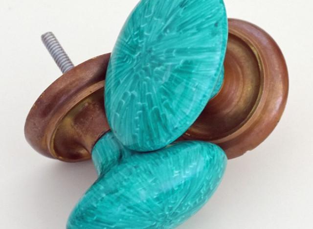 faux malachite knobs