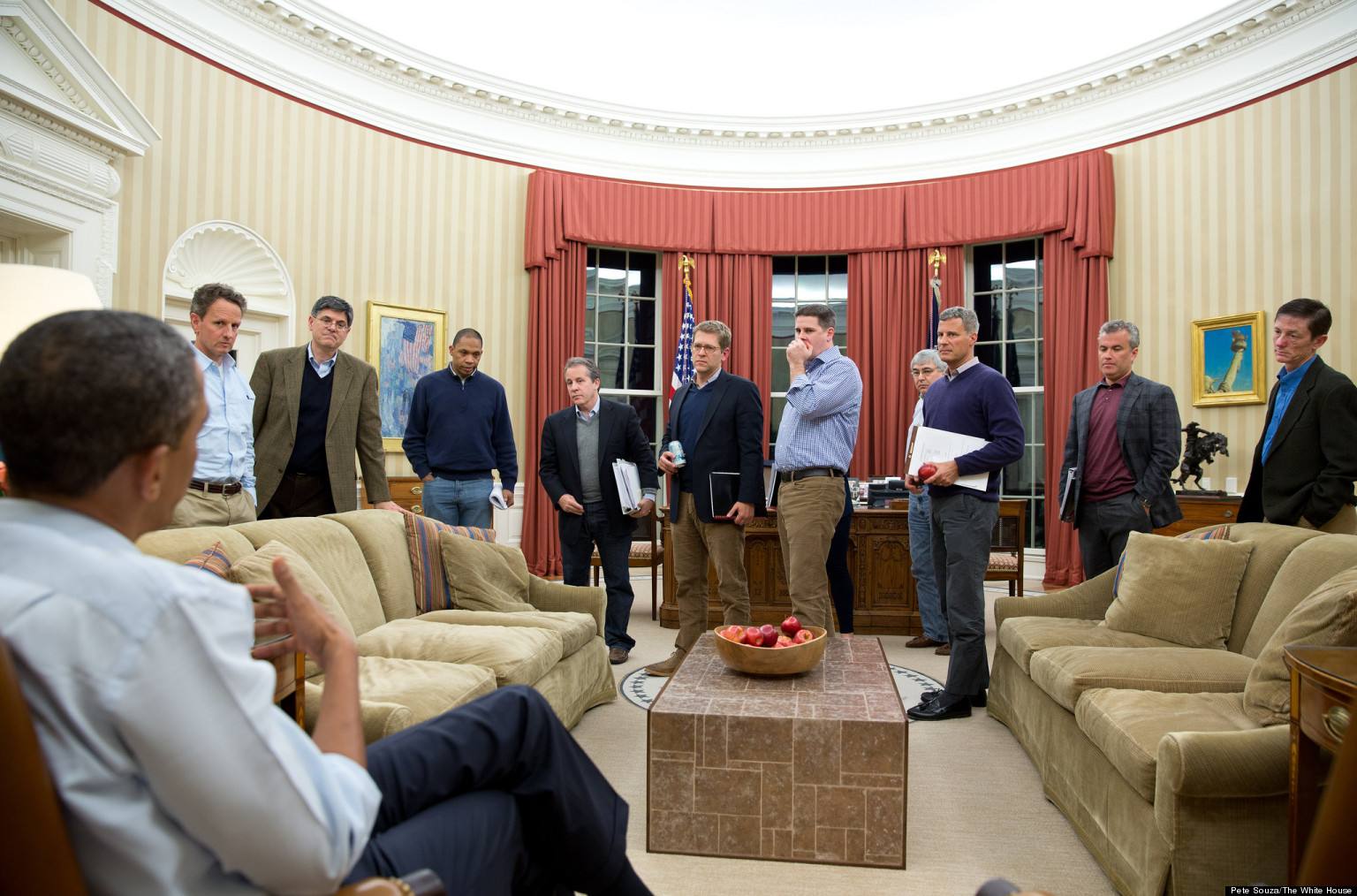 Obama And Cabinet Obama Cabinet Takes Heat For New More Male Dominated Look Huffpost