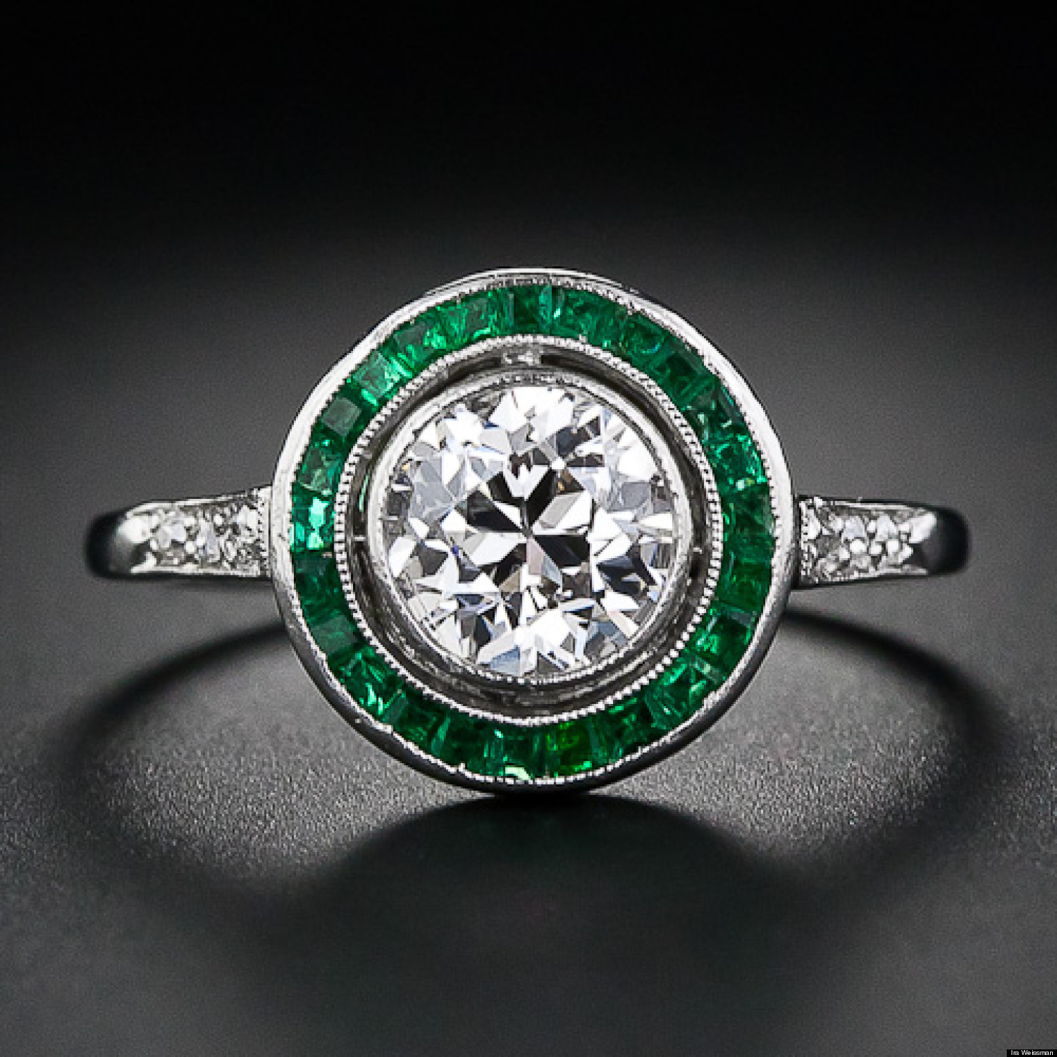 emeralds the hottest engagement ring trend for 2013 huffpost - Emerald Wedding Rings
