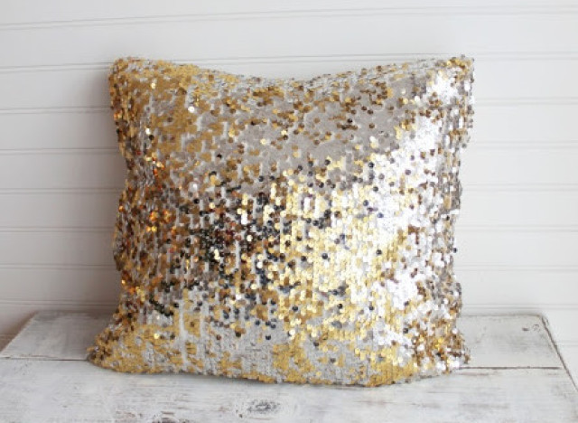 sequin throw pillow