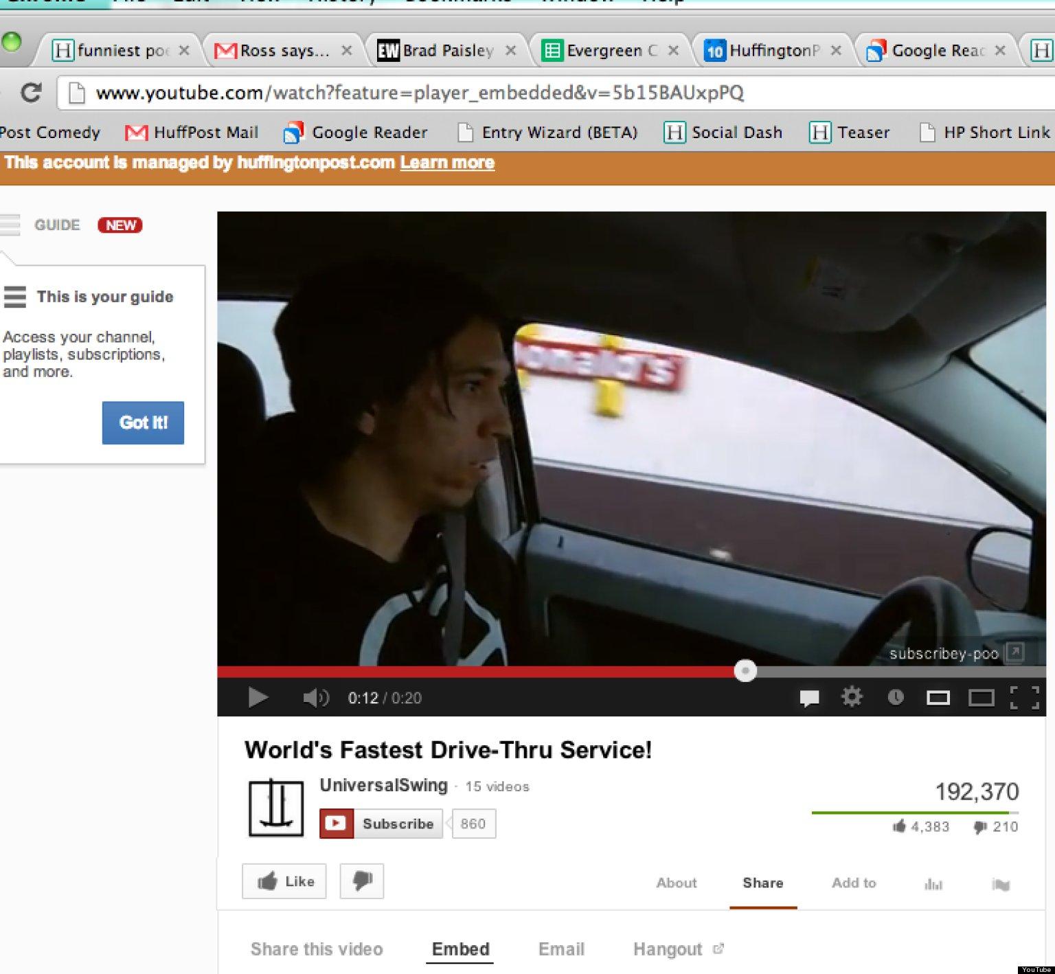 World's Fastest Drive-Thru Service? (VIDEO)