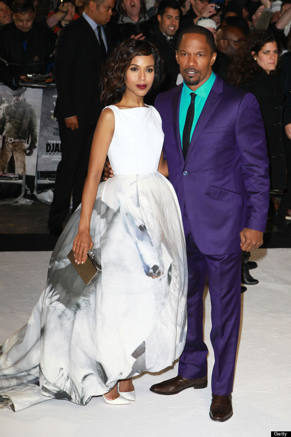 Jamie Foxx's Purple Suit: Actor Wears Bold Getup To 'Django' UK