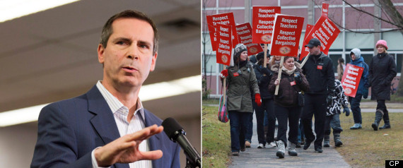 Ontario Teacher Strike Illegal